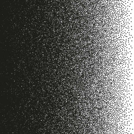 Irregular black dots pattern.