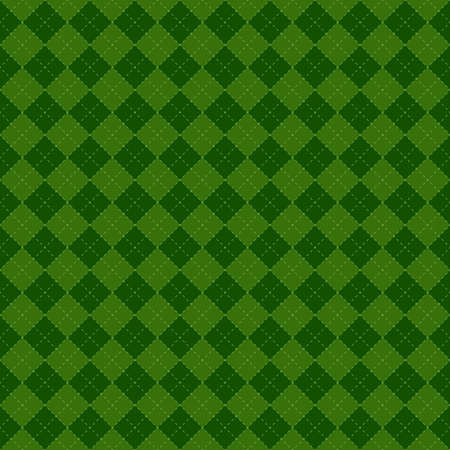 St Patricks Day pattern in shades of green repeats seamlessly. Illustration