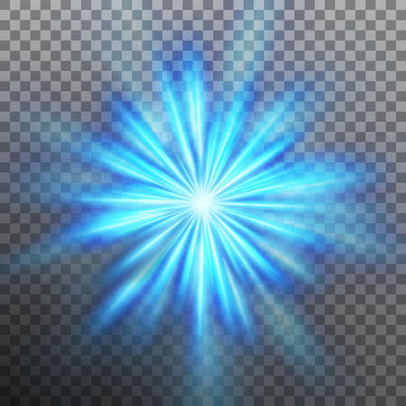 Abtract blue energy with a burst background. EPS 10 vector