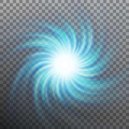 Lightning blue vortex effect object vector illustration
