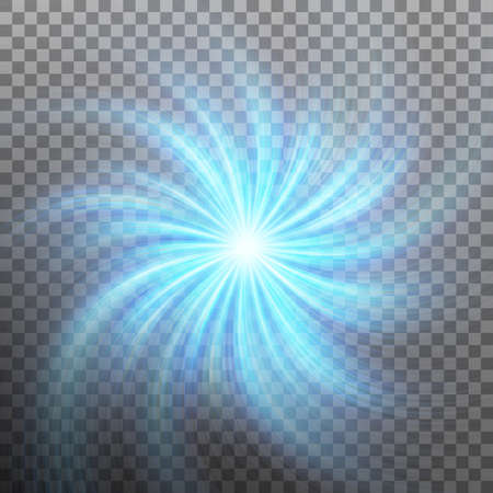 Spiraling blue vortex isolated on transparent background. And also includes EPS 10 vector
