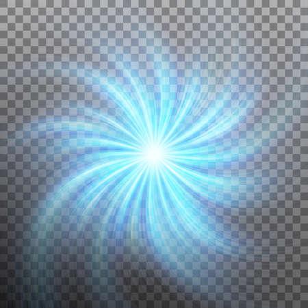 Spiraling blauwe draaikolk geïsoleerd op transparante achtergrond. En bevat ook EPS 10 vector