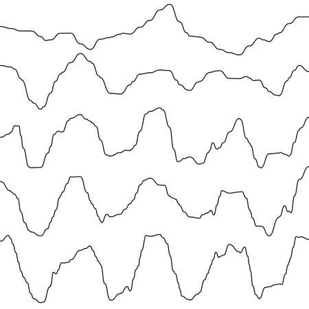Abstract monochrome waves oscillating object. And also includes EPS 10 vector