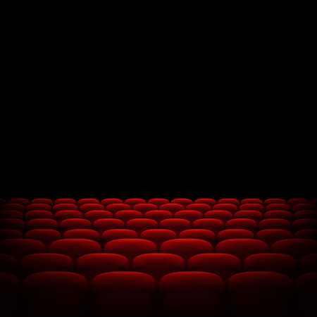 Rows Of Red Cinema Or Theater Seats Isolated On Black Background Royalty Free Cliparts Vectors And Stock Illustration Image 94199586