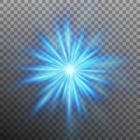 Blue burst color forces light. Vector illustration. 矢量图像