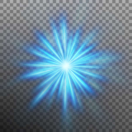 Blue burst color forces light. Vector illustration. Illustration