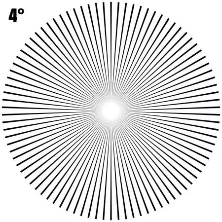 Abstract Circular Geometric Burst Rays On White. And also includes EPS 10 vector