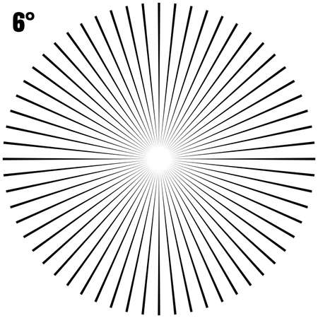 Abstract Circular Geometric Burst Rays On White. EPS 10 vector