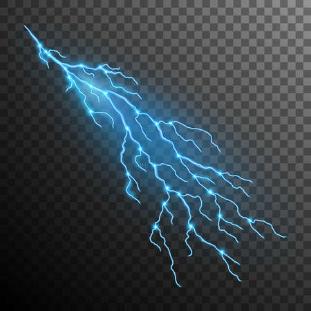 Lightning effect isolated on transparent background. EPS 10 vector