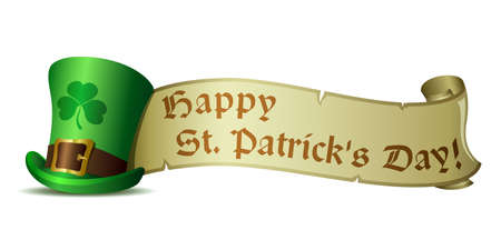 clover banners: illustration St  Patrick s Day