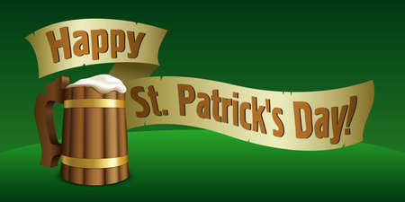 st patrick s day: Giorno di San Patrizio illustrazione s Vettoriali