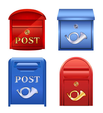 post box: Icons mailboxes