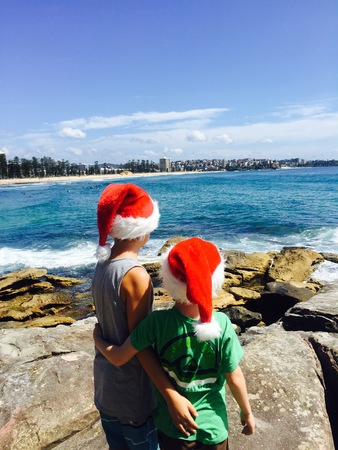 Christmas at Manly Beach