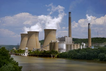 runoff: Nuclear plant on the river