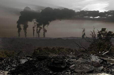 ruins: Pollution Apocalypse Stock Photo