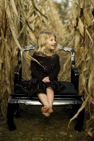 Girl in a Cornfield photo
