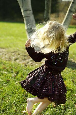 little black dress: Dancing Girl Stock Photo