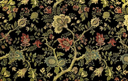 victorian wallpaper: Ornate Floral Design