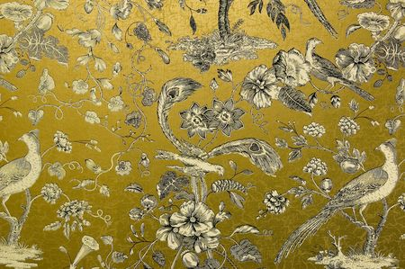 victorian wallpaper: Ornate Gold Design