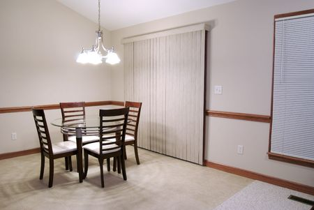 drab: Sparsely Decorated Dining Room Editorial