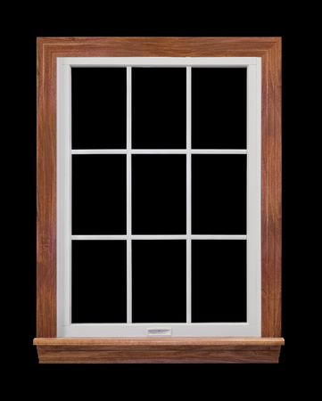 trimming: Window Frame Isolated on Black Stock Photo