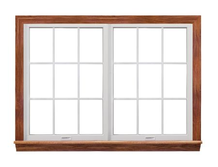 white trim: Double Frame Window