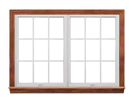 Dubbele frame venster  Stockfoto
