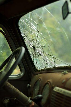 windshield: Rundown Truck Interior