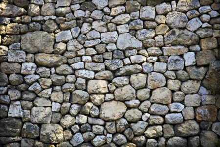 croatia dubrovnik: Stone wall  Stock Photo
