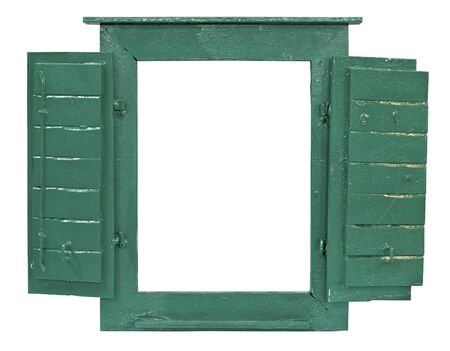 Window frame for picture with path to easy put picture in