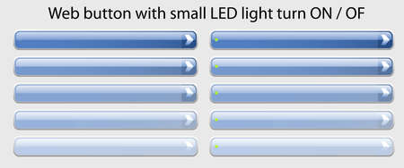 ease: Web Button with small LED light turn ON - OF ease change spot color blue