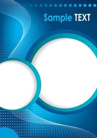 flyer background: vector zakelijke brochure, flyer sjabloon Stock Illustratie