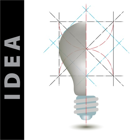 light bulb idea vector illustration and science construction Vector
