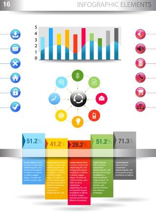 INFOGRAPHIC presentation template graph pie chart element