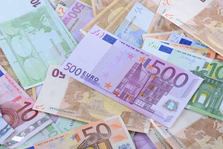 fifty euro banknote: Euros Stock Photo