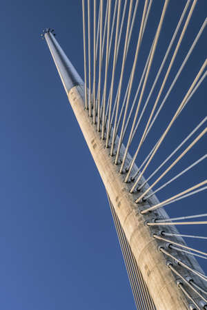 Photograph of Belgrade s Bridge Over Ada pylon - detail  photo