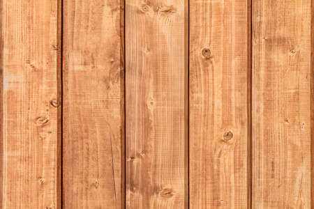 White Pine planks hut wall texture, with wood knots and joint grooves  photo