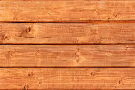 White Pine planks hut wall texture, with wood knots and joint grooves - detail
