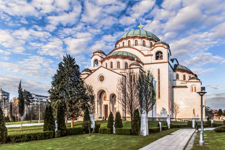 copper coated: The Temple of Saint Sava