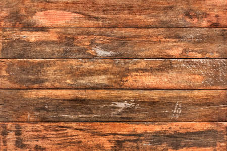 Patio garden table surface texture, weathered and cracked made of knotted White Pine stained and old varnished planks  Reklamní fotografie