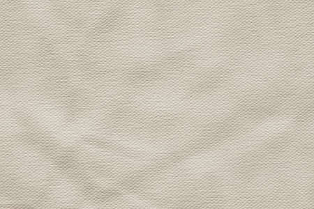 Photograph of primed, coarse grain, artist s Cotton duck canvas crumpled texture sample photo