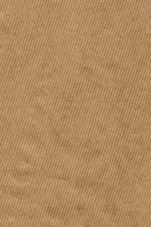 Photograph of recycle brown kraft striped paper coarse grain, crumpled grunge texture sample photo