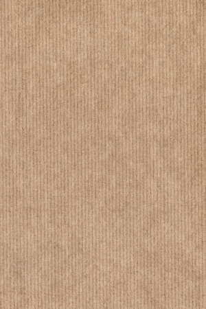 Photograph of recycle light brown kraft striped paper coarse grain grunge texture sample