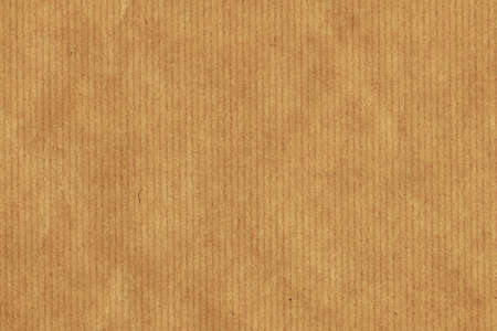 Photograph of recycle light brown kraft striped paper coarse grain grunge texture sample photo