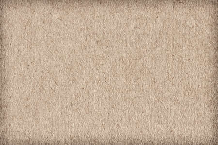horozontal: Photograph of light brown recycle paper, extra coarse grain, vignette, grunge texture sample Stock Photo