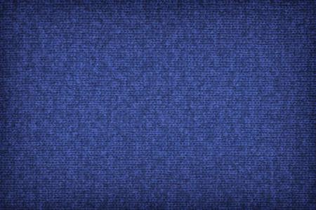 granatowy: Photograph of Dark Navy Blue, tkane tkaniny wełnianej, winieta, tekstury grunge próbka