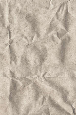 sac �picerie: Photograph of recycle off white paper grocery bag, coarse grain, crumpled grunge texture - detail Banque d'images