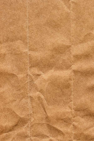 bolsa supermercado: Fotograf�a del viejo Brown recicla Kraft bolsa de papel, de grano grueso, aplastado, arrugado, muestra la textura del grunge - detalle
