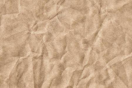bolsa supermercado: Fotograf�a del viejo Brown recicla bolsa de papel artesanal de comestibles, de grano grueso, aplastado, arrugado, grunge muestra de la textura - detalle