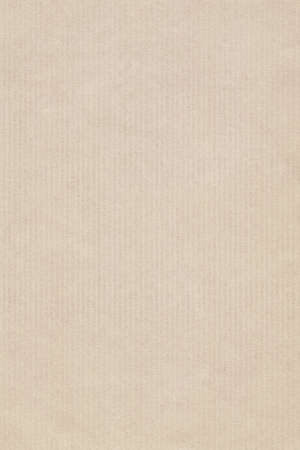 Photograph of recycle, striped kraft Pale Beige paper, coarse grain grunge texture